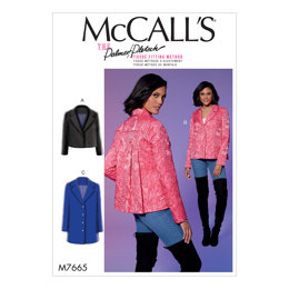 McCall's Misses' Jackets with Yoke and Back Pleats M7665 - Sewing Pattern