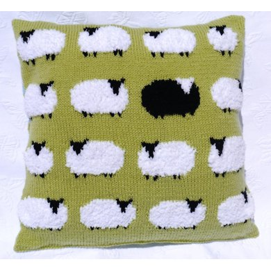 Flock Of Sheep Cushion Knitting Pattern By Iknitdesigns Knitting