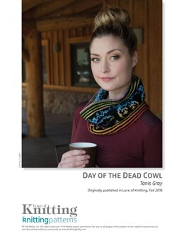 Day of the Dead Cowl in Classic Elite Liberty Wool - Downloadable PDF