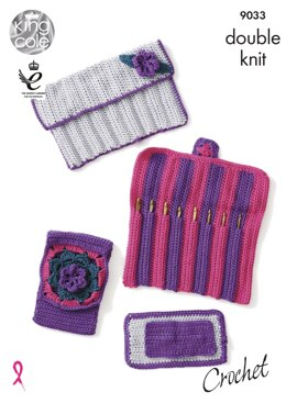 Hook Roll & Accessories Set in King Cole Smooth DK - 9033pdf - Downloadable PDF