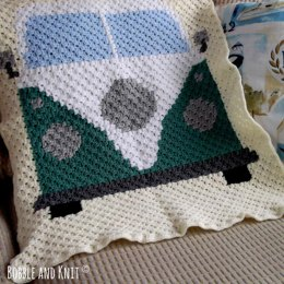 Campervan Baby Blanket Crochet Pattern