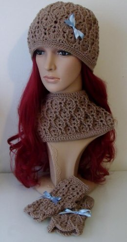 Hat with Cable & Eyelet Design - Slouch or Beanie