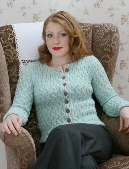 Frances Cardigan in Susan Crawford Excelana 4 Ply