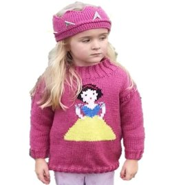 Princess Sweater and Crown - Snow White