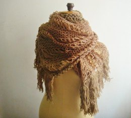 Extra Large Lace Knit Scarf