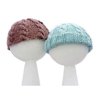 Easy Baby Cabled Hats