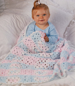 Baby Steps Blanket in Red Heart Soft Baby Solids - LW1454 - Downloadable PDF