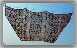 God Is More Than Able Prayer Shawl Crochet Pattern