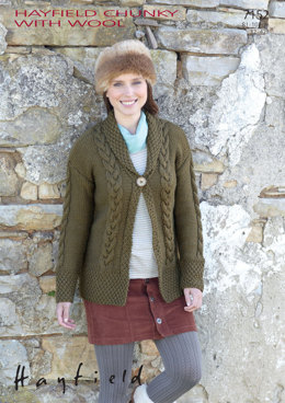 Ladies Cardigan in Hayfield Chunky with Wool - 7152 - Downloadable PDF