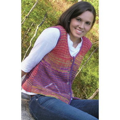 Faux Mitered Vest in Knit One Crochet Too Ty-Dy - 1864