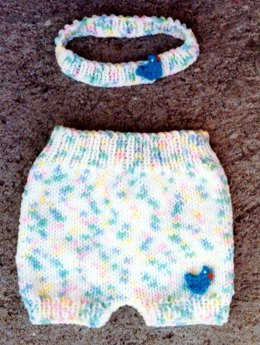 Diaper Cover / Headband Set