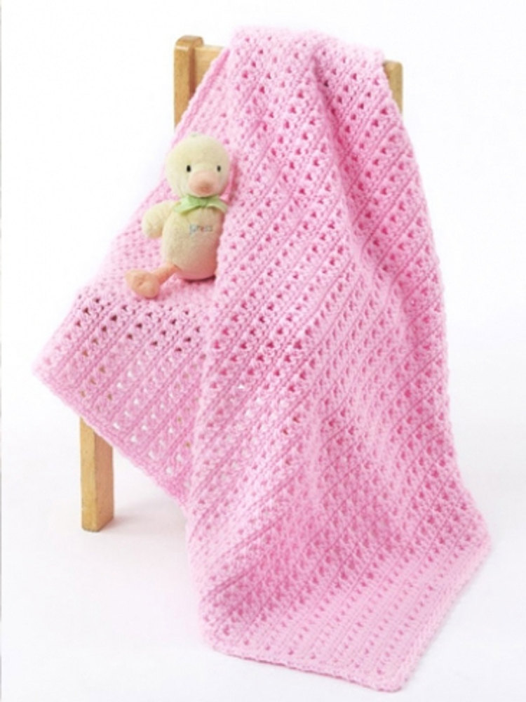 One Skein Baby Blanket In Caron One Pound Downloadable Pdf