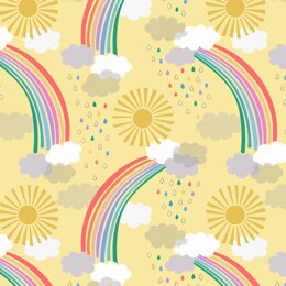 Lewis & Irene Rainbows - Bright rainbows on Yellow