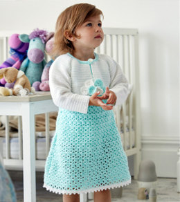Girl's Bolero and Dress in Stylecraft Wondersoft 4 Ply - 9323 - Leaflet