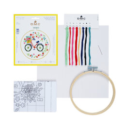 DMC Cross Stitch Kit - Bicycle - 25cmx25cm