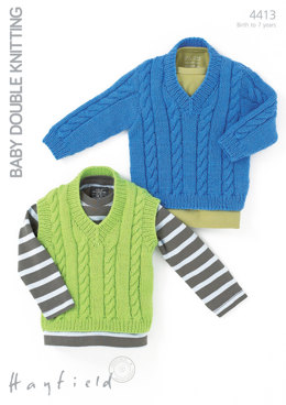 Tank and Sweater in Hayfield Baby DK - 4413