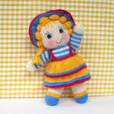 Sunny Sally - knitted doll