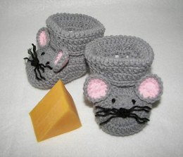 Mouse Baby Booties