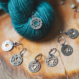Knitter's Pride The Mindful Collection - Sterling Silver Plated Chakra Stitch Markers