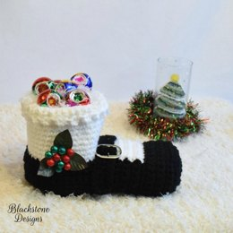 Mrs. Claus Shoe Basket