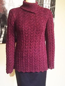 Arched Lace Pullover