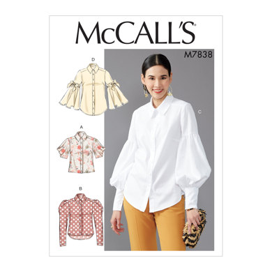 McCall's Misses' Tops M7838 - Sewing Pattern