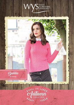 Dahlia Sweater in West Yorkshire Spinners Bluefaced Leicester Solids DK - Downloadable PDF