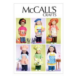 McCall's 18 (46cm) Doll Clothes, Bag, Towel and Cat M6451 - Sewing Pattern