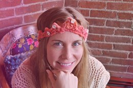 Crochet Crown in Knit Collage Daisy Chain