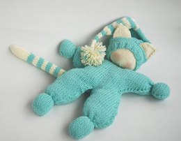Waldorf knitted Cat doll for small babies