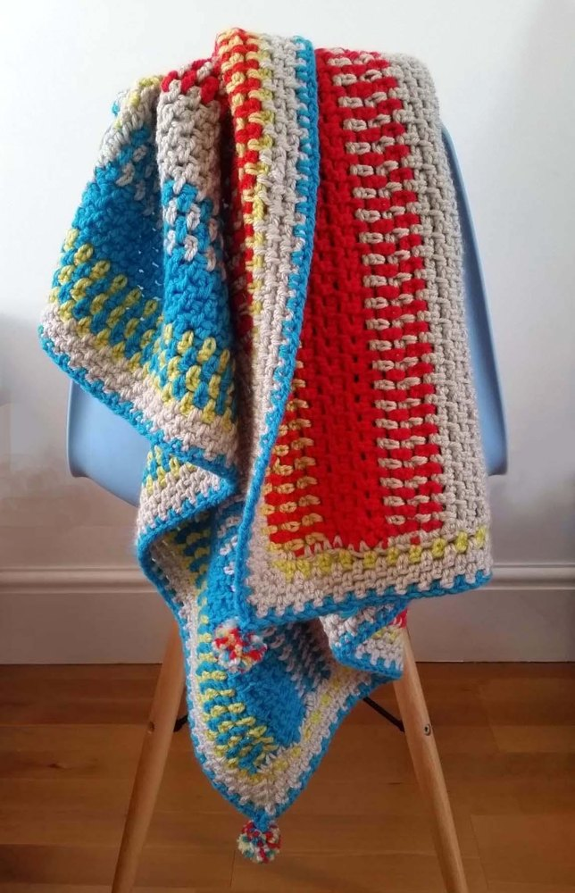 Disco Navajo Buggy Blanket Crochet Pattern By Thredhed