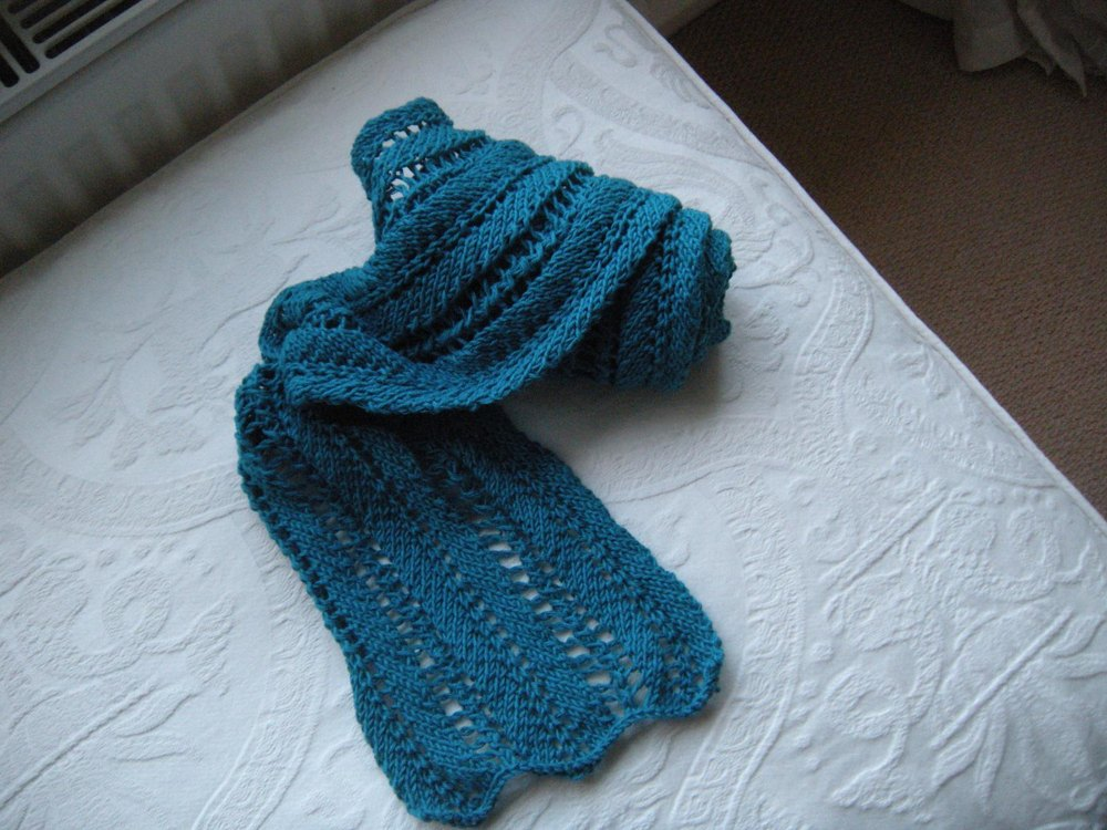 Ladder Lace Scarf Knitting pattern by Samantha Paya