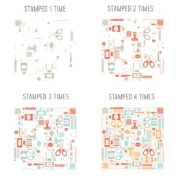 """Concord & 9th Clear Stamps 6""""X8"""" - Crafty Turnabout"""