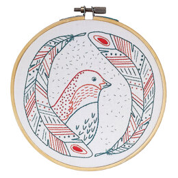 Cozyblue Handmade Bird Of A Feather Emrbroidery Kit