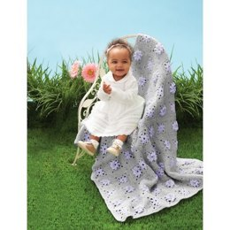 Field of Flowers Blanket in Bernat Baby Sport