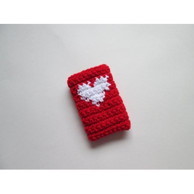 Stitch Red Smartphone Cover (Crochet Version)