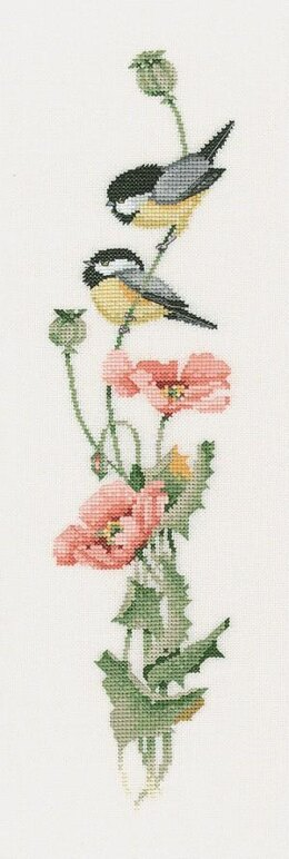 Heritage Crafts Serenade In Pink, 14 count Aida Cross Stitch Kit - Multi