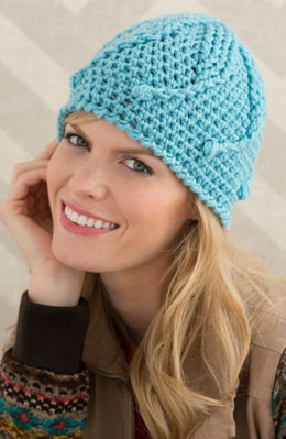 Mermaid Tails Hat in Red Heart With Love Solids - LW4636 - Downloadable PDF