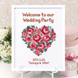 Olympus Thread Rose Welcome to Our Wedding Cross Stitch Kit