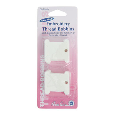 Hemline Plastic Floss Bobbins Pack of 30