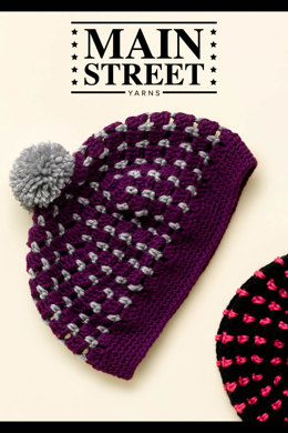 Color Pop Hat in Main Street Yarns Shiny + Soft - Downloadable PDF