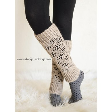 Wisteria Leg Warmers ~ Crochet Version