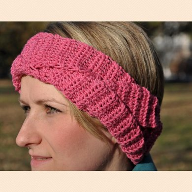 Pink Plaited Headband