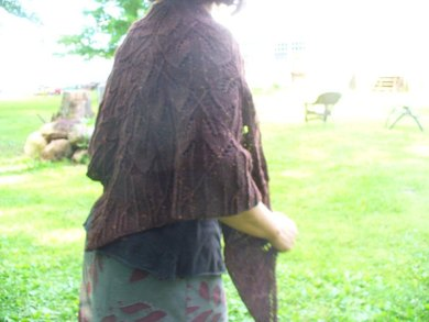 Forest floor shawl