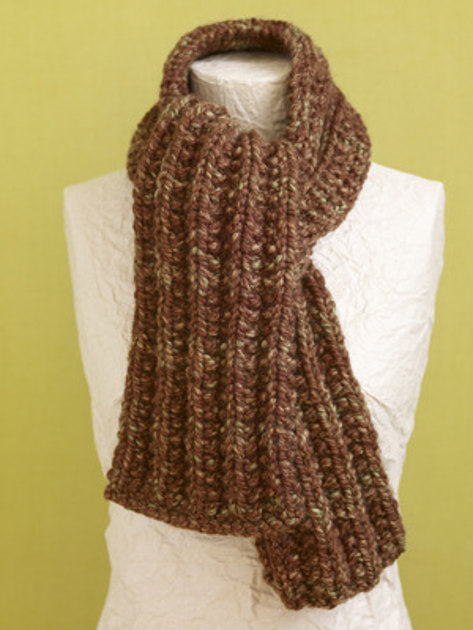 Knitting Patterns Wool Ease Thick Quick : Brisbane Scarf in Lion Brand Wool-Ease Thick & Quick ...
