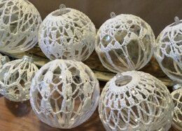 Large Lace Covered Ornaments