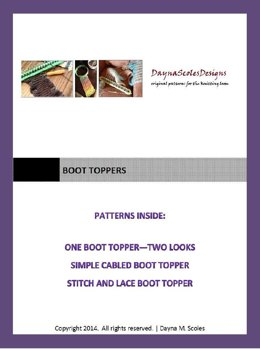 Boot Toppers eBook - 3 loom knit patterns