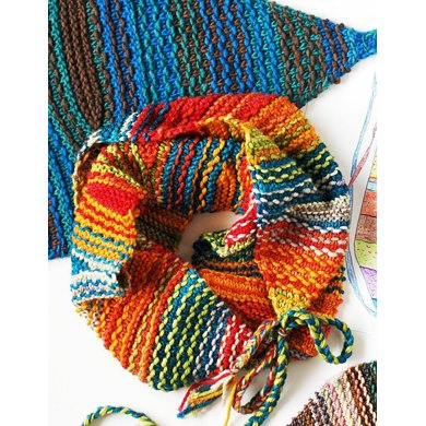 Scribbled Lines scarf