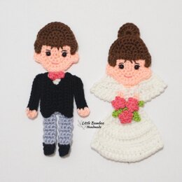 Bride and Groom Appliques