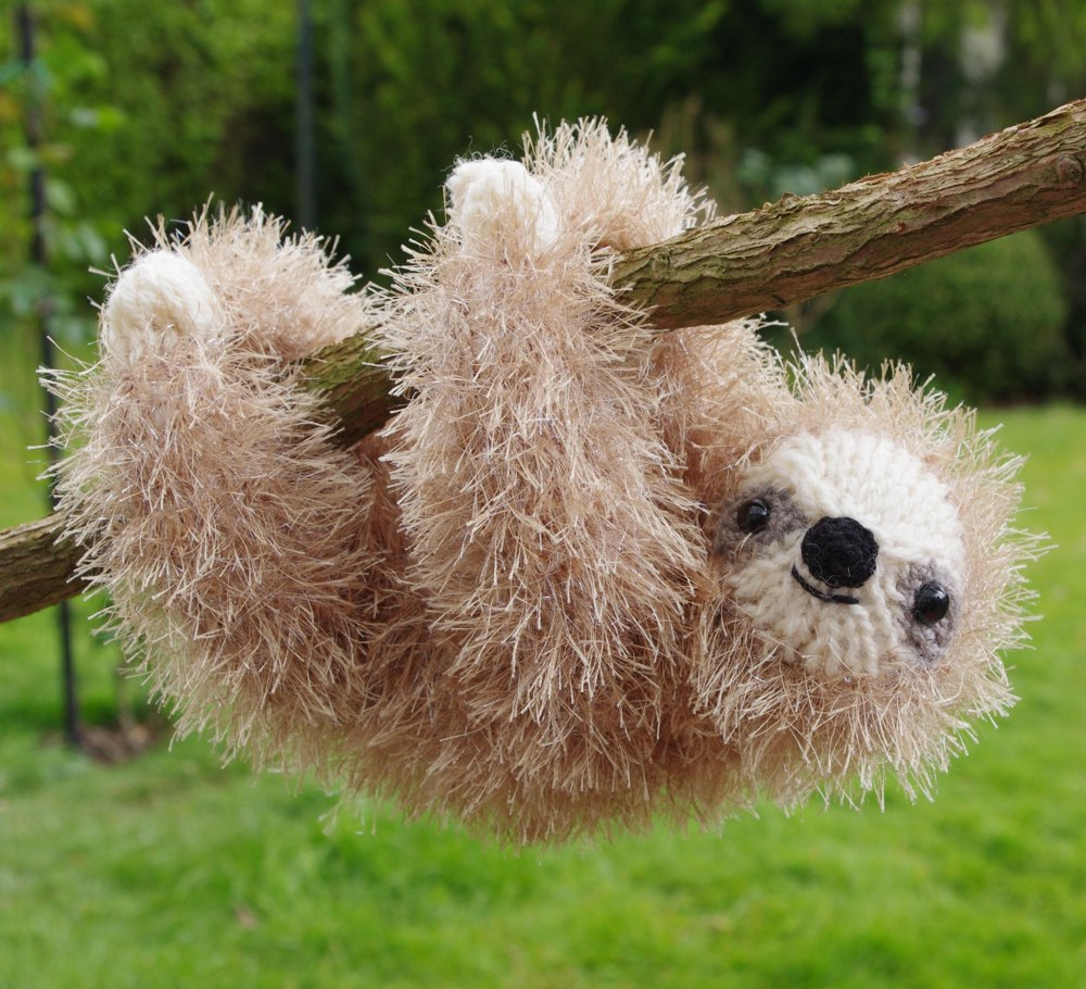 Tinsel Sloth Knitting pattern by Fiona Goble